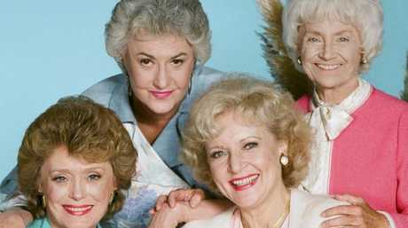 Betty White, second from the right, is the last living Golden Girl.