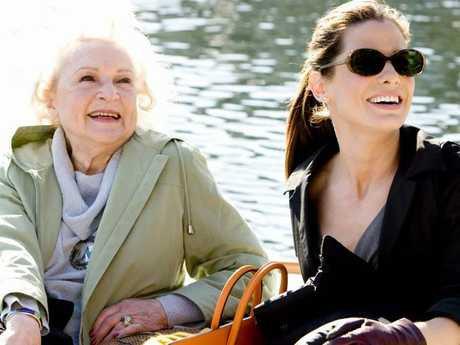 Betty White and Sandra Bullock in a scene from 2009 film The Proposal.