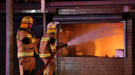 Leo's Snack Bar at Moorooka was in a Moorooka building destroyed by fire last night. PIC Marc Robertson.