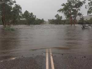 Couple's 58km trek after car bogged in floods