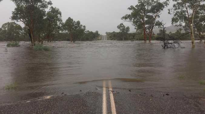 Flooding at Ellery Creek in Central Australia. Picture: Facebook