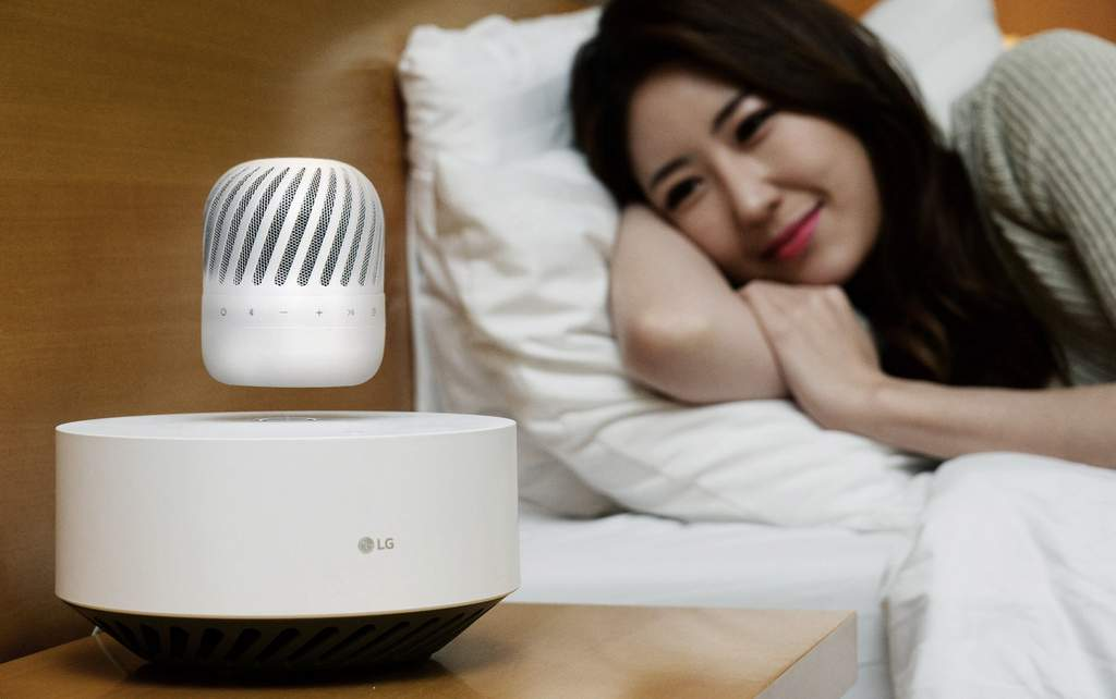 LG Electronics (LG) is showcasing its futuristic Levitating Portable Speaker (model PJ9) at CES 2017. LG says the wireless speaker hovers in place over the accompanying Levitation Station to deliver high-quality audio while making quite an impression.