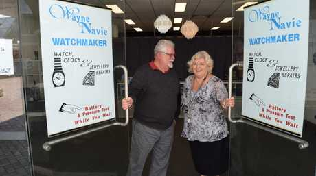 Watch maker Wayne Navie and his wife Sue have closed their store in the mall after 50-years of business in Ipswich.