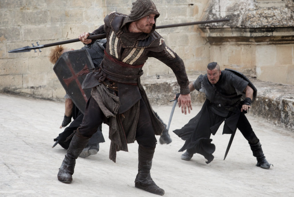 Michael Fassbender in a scene from the movie Assassin's Creed.
