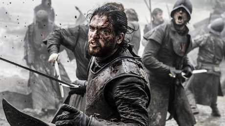 Kit Harington portrays Jon Snow in a scene from the Battle of the Bastards in Game of Thrones.
