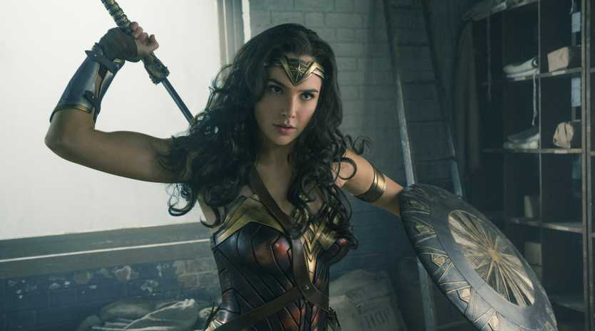 Gal Gadot in a scene from the movie Wonder Woman.