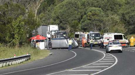 TRAGIC: The scene of the fatal two-car collision at Sheehys Ln, Tyndale.