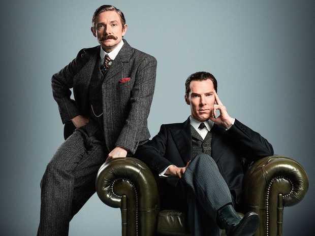 Martin Freeman and Benedict Cumberbatch star in the TV series Sherlock.