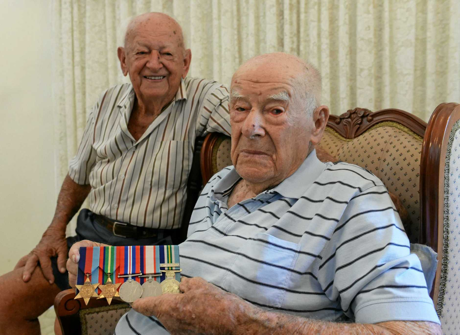 LEST WE FORGET: Clarence Zunker and brother Norman who served in New Guinea and Borneo during the Second World War.