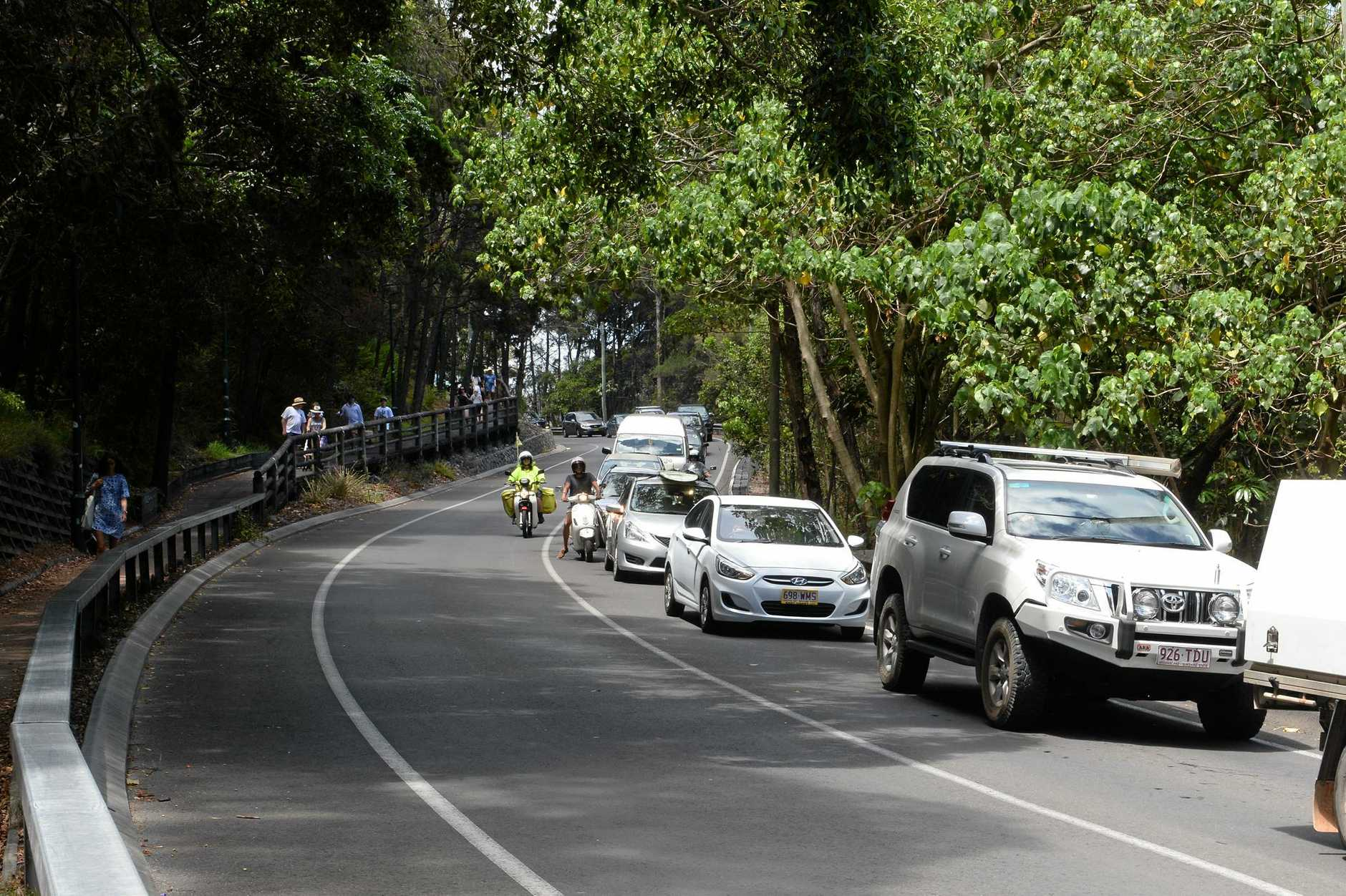 Noosa traffic jam.