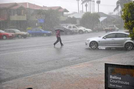 Heavy rain in Ballina last year after a low moved through the region. Photo Marc Stapelberg / The Northern Star