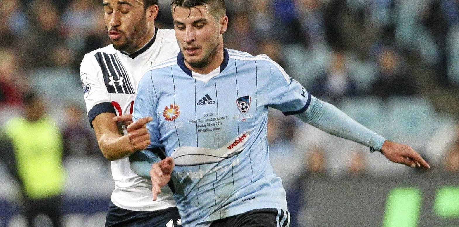 BACK HOME: Terry Antonis (right) is poised to sign with Western Sydney Wanderers.
