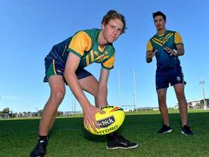 Teenager storms through ranks of footy codes