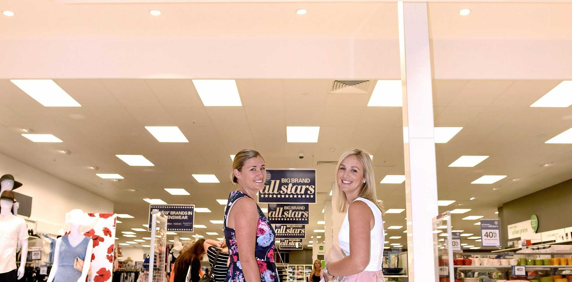 NEWSHOP: Marney Rackley and Ashlea Gessell from Harris Scrafe display the latest fashions that can be purchased in store.