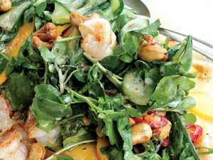 The perfect pair: prawn and mango salad