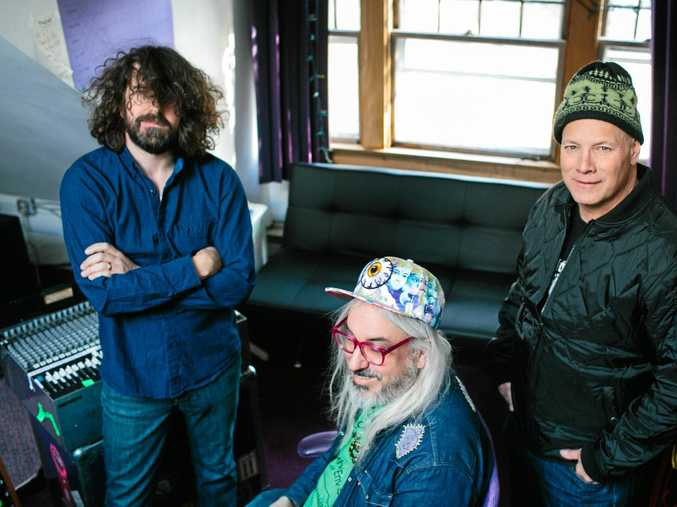 ROCK: Dinosaur Jr is an American rock band formed in Massachusetts in 1984, by J Mascis (guitar, vocals, primary songwriter), Lou Barlow (bass, vocals), and Murph (drums).