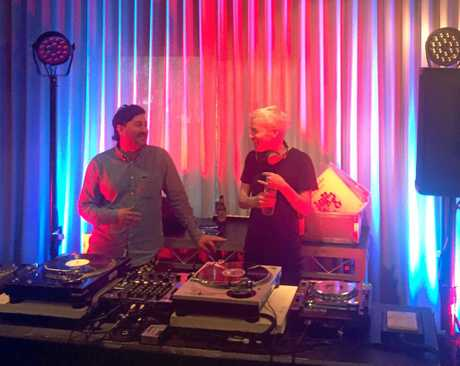 LAUNCH: The Avalanches' Robbie Chater and Tony Diblasi were the official DJs at the Byron Bay launch of Falls Festival 2016/17.