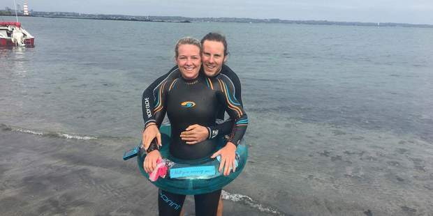 Aimee Spicer and Vincent Schouppe got engaged with a ring of a different variety. Photo / supplied