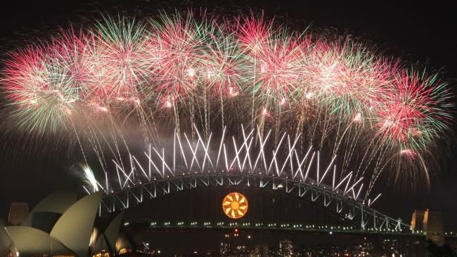 Sydney's New Year's Eve fireworks.