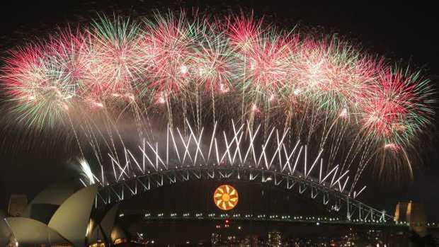 Sydney's New Year's Eve fireworks.