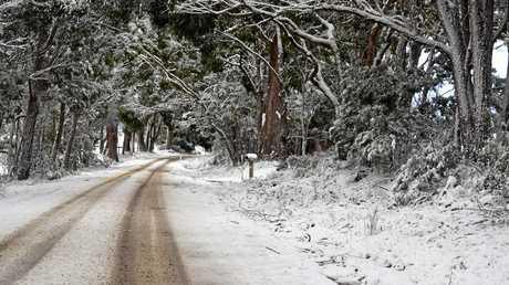 Snow near Eukey.