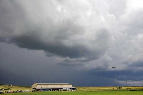 Storm clouds rolled in over Killarney. Photo: John Towells / Warwick Daily News