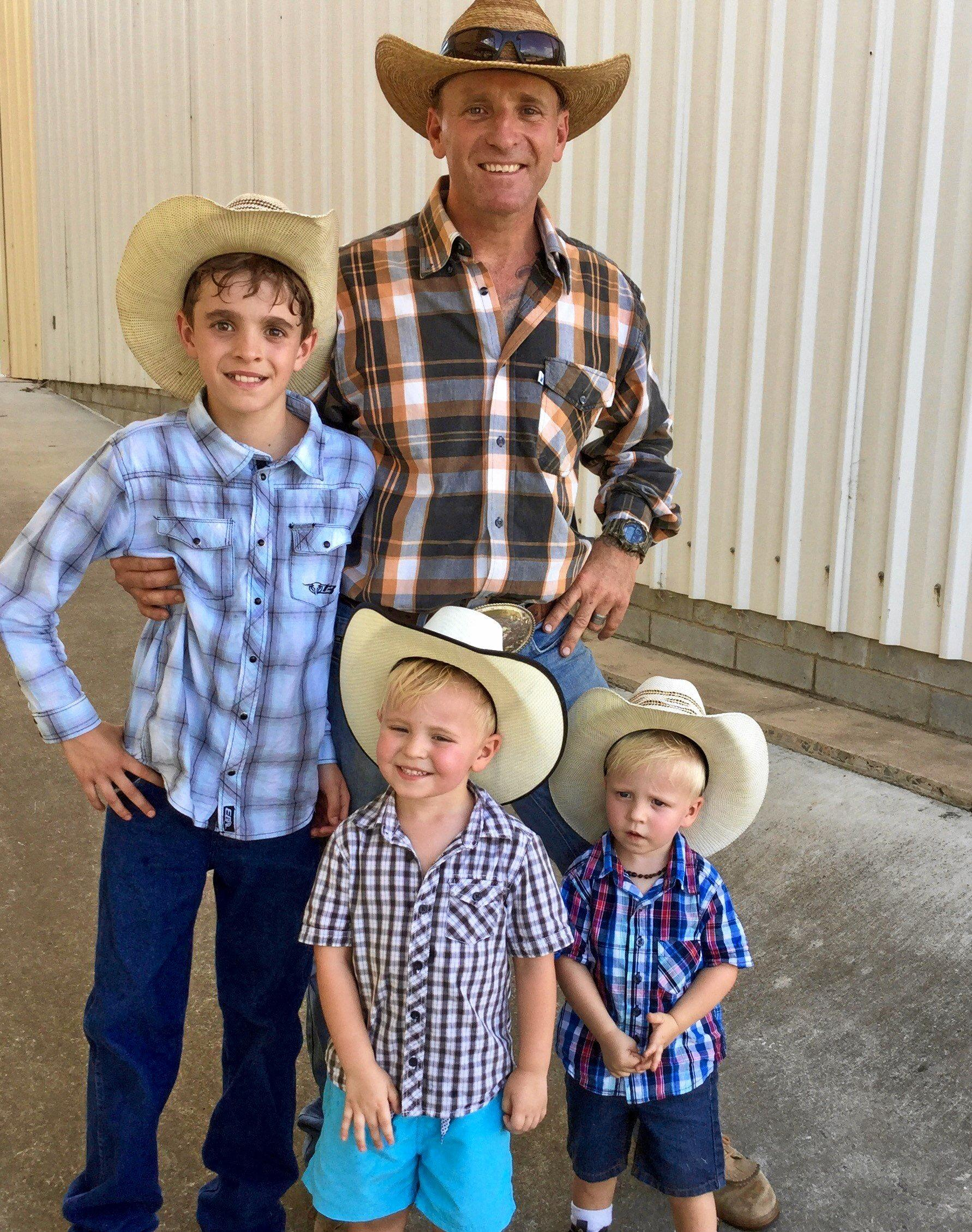 It was  a family day out for Fletcher, Matt, Knox and Braxton Young from Beaudesert.