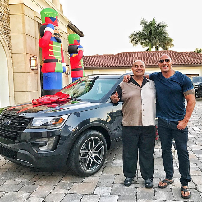 Dwayne Johnson and his dad in a picture the star shared on his Instagram page.