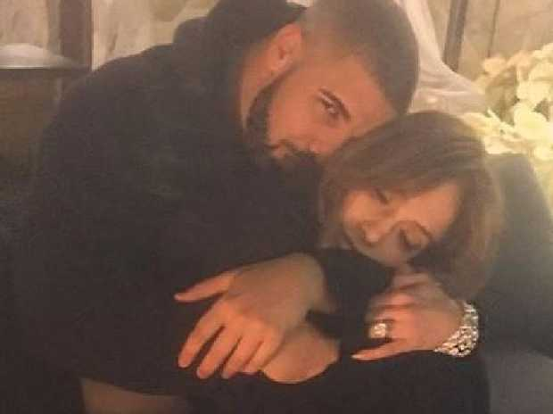 Drake and J Lo on Instagram
