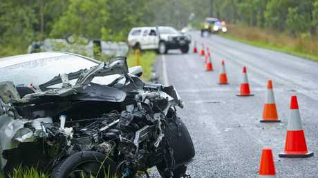 A four vehicle crash on Fingerboard Rd 5km from Miriam Vale has left an elderly man with minor head lacerations.