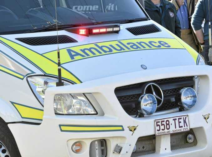 A man was rushed to hospital after falling six storeys from a balcony at Mooloolaba