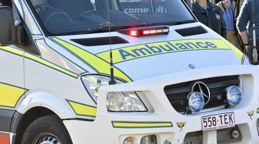 ROLL OVER: A man had to be cut free from his vehicle overnight.