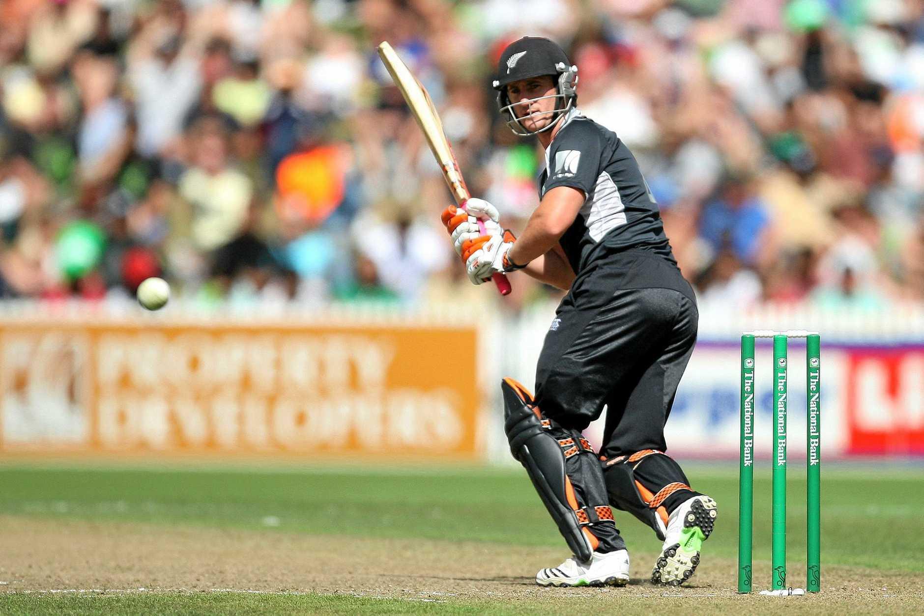 New Zealand's Neil Broom in action.