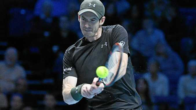 Andy Murray of Britain in action.