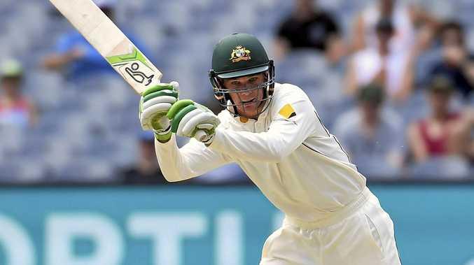 Australia's Peter Handscomb bats against Pakistan.