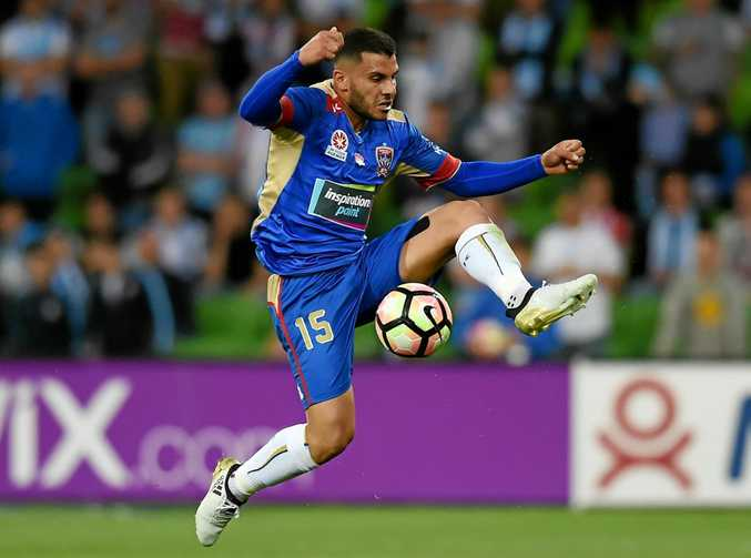 Andrew Nabbout of the Newcastle Jets.