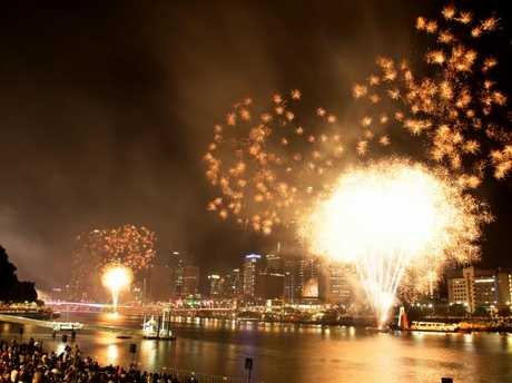 New Year's Eve at Southbank in Brisbane.