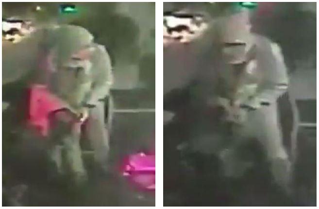 The alleged gunman is seen walknig around the nightclub.