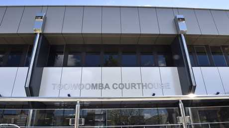 There were dramatic scenes in Toowoomba Supreme Court as prisoner jumped over the dock.