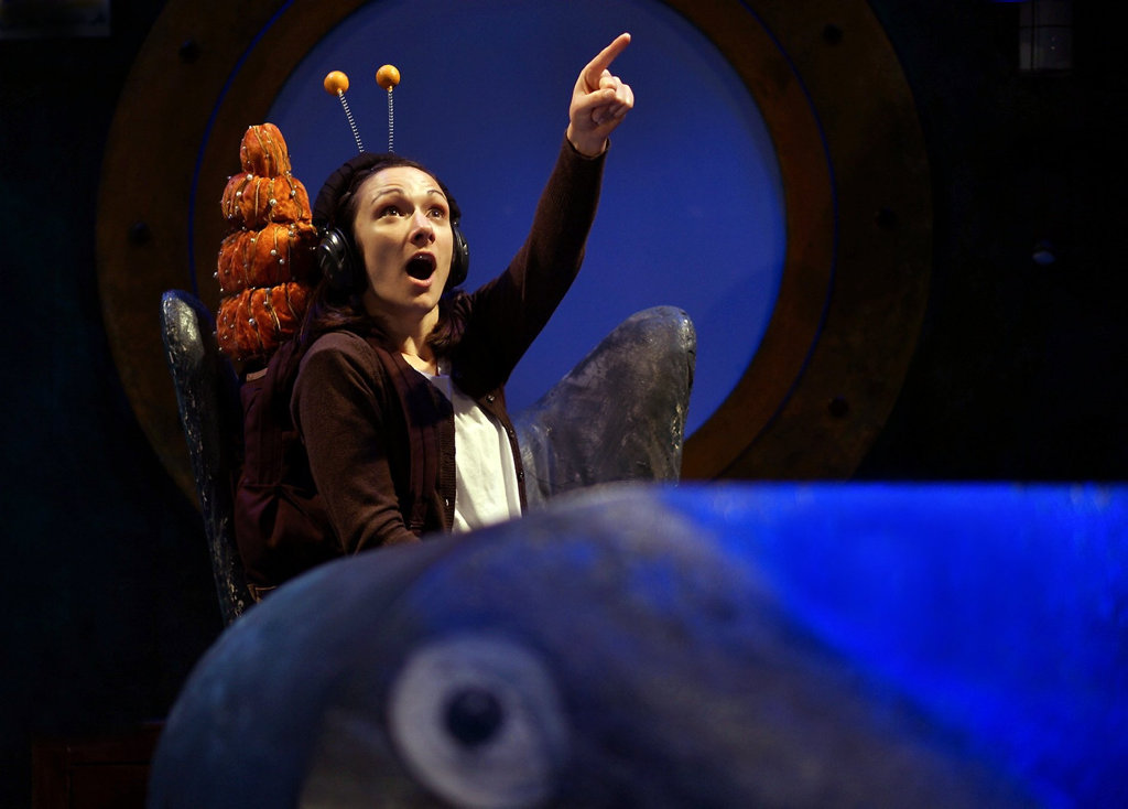 A scene from the stage show The Snail and the Whale.