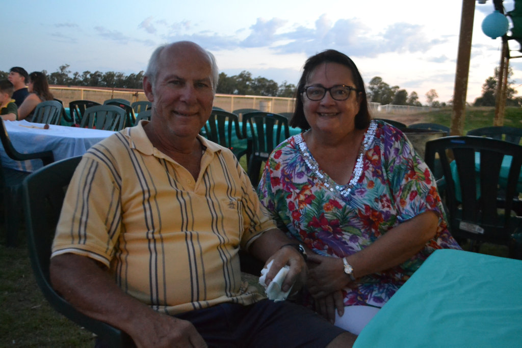 Image for sale: Graeme and Debra Frost from the Sunshine Coast at the Miles New Years Eve beach party celebrations. 31/12/16.