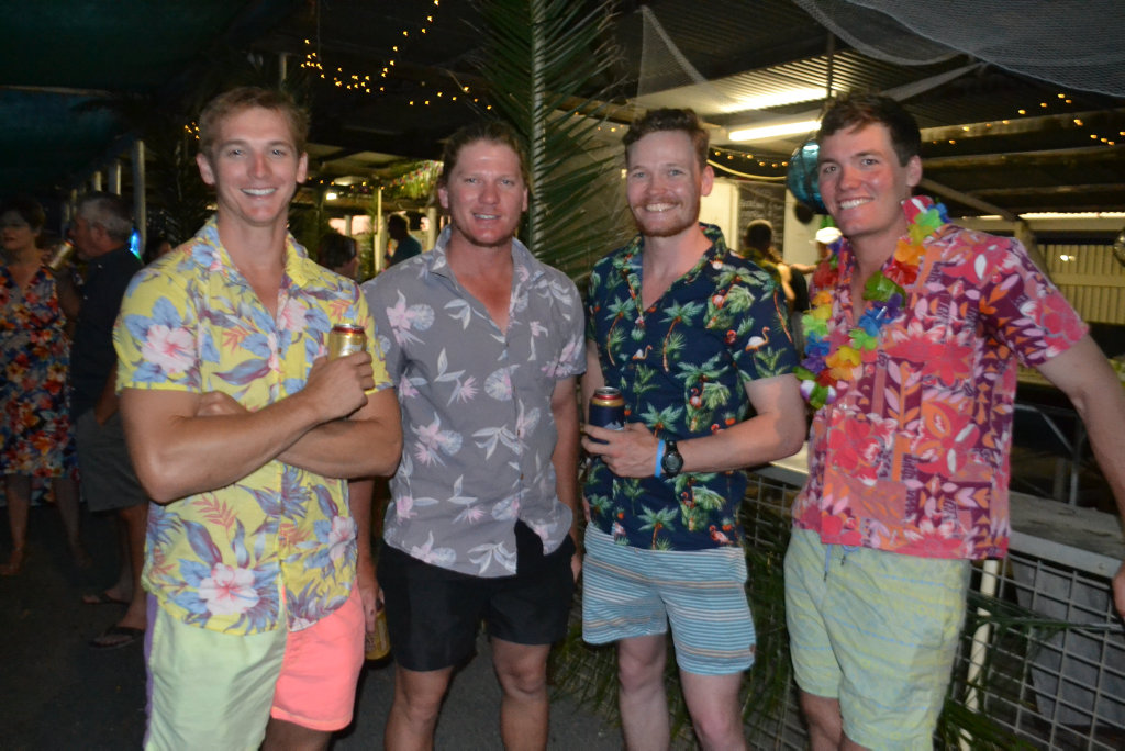 Image for sale: Josh Power, Luke Kuhl, Jamie Kerwick and Matt Rynne at the Miles New Years Eve beach party celebrations. 31/12/16.