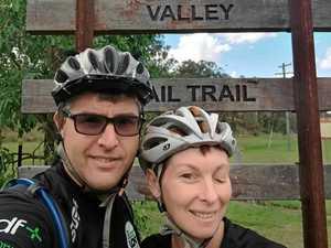 Mel & Andrew hit rail trail