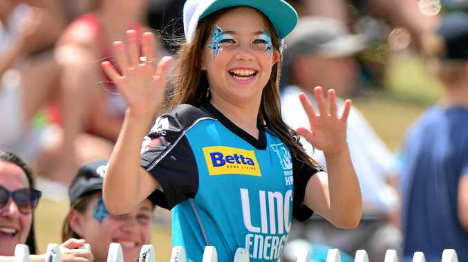 ONE OF MANY: Charlotte Frost was one of more than 3000 fans at John Blanck Oval for Brisbane Heat's trial matches against Hobart.