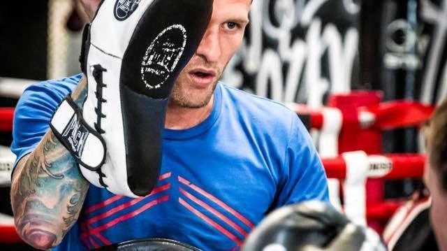 PADS UP: Corporate Box Ipswich new manager Dean Wood has been nominated for young trainer of the year in the Australian Muay Thai Awards.