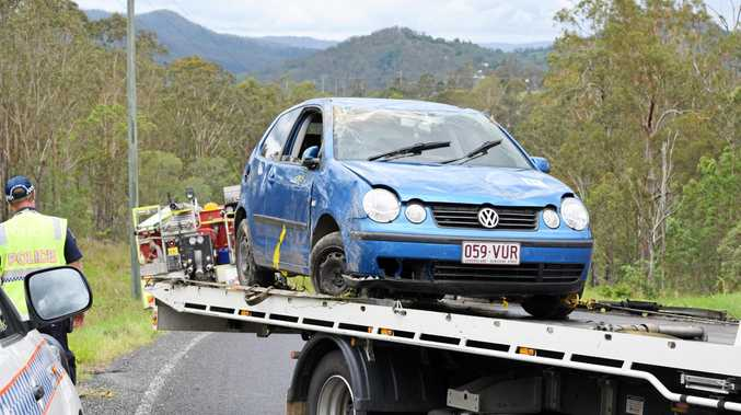 A teenager has escaped serious harm after her car rolled north of Imbil just after midday.