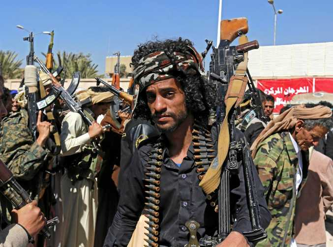 Houthi supporters gather in Sana'a to mobilise more fighters into multiple battlefronts against Saudi-backed Yemeni forces