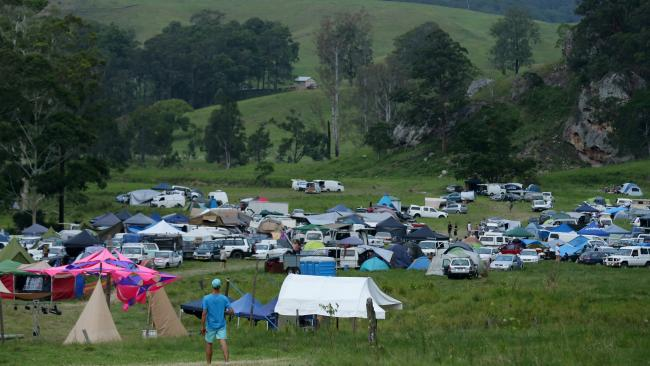 NSW pair Jade and Dylan were at the Mount Lindesay rave.