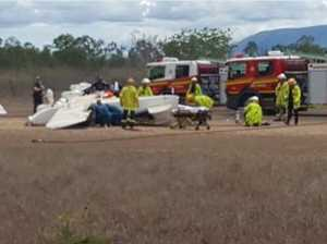 Two trapped after their light plane flips over