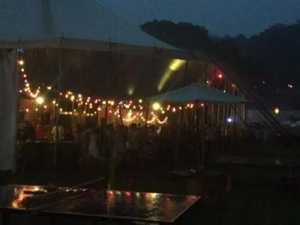 Rain at Falls Festival